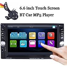 BoomBoost 6.6 '' Touch Bluetooth 2 DIN radio de coche Estéreo MP5 Player AUX / Remote / USB autoradio + cámara trasera