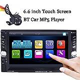 BoomBoost 6.6 '' di tocco di Bluetooth 2 DIN radio autoradio MP5 Player AUX / Remote / unità principale USB + telecamera posteriore