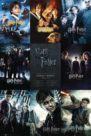 Poster HARRY POTTER - collection - manifesto risparmio, cartellone XXL in formato 61 x 91.5 cm