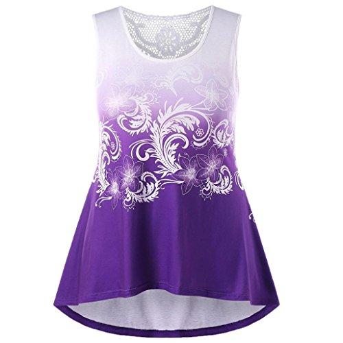 Tank Tops Kolylong® Frauen Elegant Drucken Spitze Ärmellose Blusen Retro  Spitzenbluse Retro O-ausschnitt 2a74595746