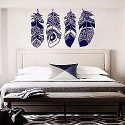 Colector ideal de la etiqueta de la pluma de Boho Dreamcatcher Pegatinas Adhesivos de pared para el dormitorio del cuarto de niños de Bohemia Ropa de cama Decoración Hippie MN883