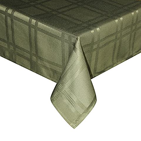 Eurcross Green Checkered Tablecloth European Style, Wrinkle Free Spill Proof High Quality Polyester Table Cloth For Dining, Small Size,150 x