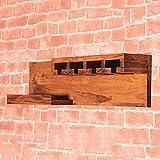 Range-bouteilles minimaliste nordique à vin cave à vin en bois massif multi-usages Tablette de rangement à la maison diamètre 70 cm hauteur 18 cm jaune