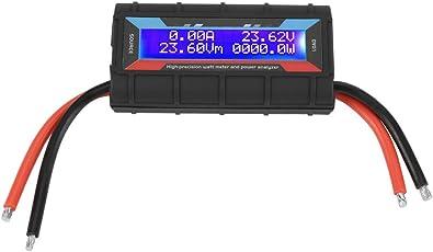 Leistungsmesser,Acogedor 130A 4.8V~60V LCD-Display Wattmeter für RC-Modellflugzeuge Stromstärke Leistung-Energie-Messinstrument Testing Messgerät