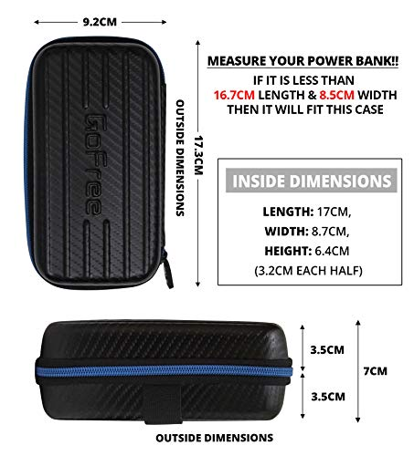 GoFree Carry Case for Power Bank, Charger, Cables & Small Accessories - Supports All Power Banks Up to 20,000mah Power Bank (Carbon Fiber Black) Image 6