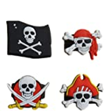 TOYMYTOY 24Pcs Pirate Rings con Pirate Skull Bandana Flag Pattern per bambini Ragazzi Birthday Pirate Theme Party