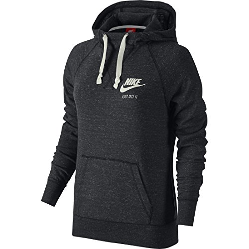 Nike W Nsw Gym Vntg Hoodie Sweat-shirt à capuche pour femme Anthracite/Sail