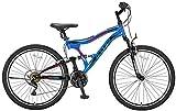 Hoopfietsen 24 Zoll Jungen Fully Mountainbike 21 Gang Albatros, Farbe:blau-rot