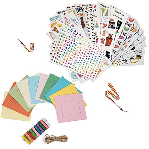 Pack de accesorios de regalo para impresora Sprocket, Prynt – 7 packs de pegatinas + 10 marcos + correa