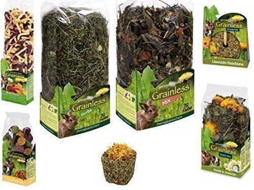 JR-Farm Grainless-Paket für Zwergkaninchen (Futter und Leckereien)