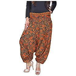 Soundarya Womens Regular Fit Harem Pants (AP7, Tan)