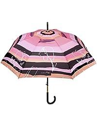 Paraguas Mujer Clásico Maison Perletti - Apertura Automática - Acabados Elegantes con Detalles en Plata y