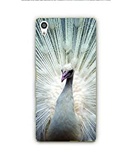 YuBingo Sony Xperia Z5 Premium :: Sony Xperia Z5 4K Premium Dual Designer Phone Back Case Cover ( Dancing White Peacock )