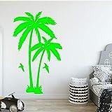 Ajcwhml Pegatina de Pared de Planta de árbol de Coco más vendida Sala de Estar Vinilo removible calcomanía de Pared de Palmera decoración de habitación de vivero 绿色 30cm X 49cm