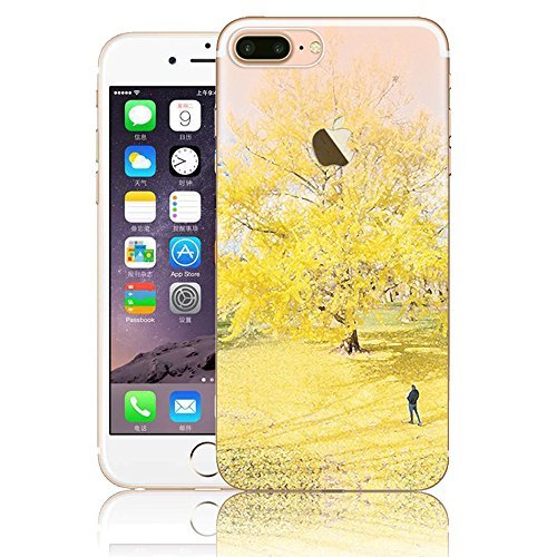 iPhone 7 Plus Hülle, Vandot Malerei Painting Case Cover für iPhone 7 Plus Natur Design Landscape Landschaft Schutzhülle aus TPU Silikon Muster Pattern Abdeckung Telefonkasten Ultra Dünn Leicht Soft Ha Color 18