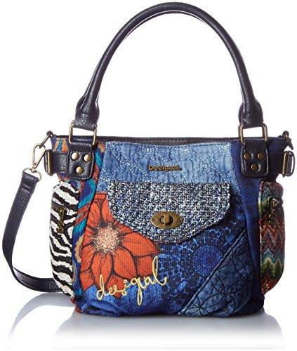 DESIGUAL, Damen Handtaschen, Henkeltaschen, Umhängetaschen, Blau, 33 x 23 x 11 cm (B x H x T) (Shop Handtaschen Einzigartige)