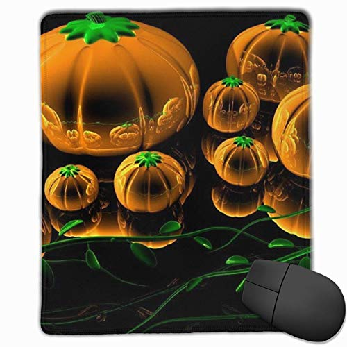 Halloween Rectangle Non-Slip Rubber Mouse Pad with Stitched Edges