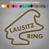 Generic LAUSITZRING Aufkleber 12x11cm Rennstrecke Layout Formel 1 F1 Porsche Cup 18 GTI in 18 Farben