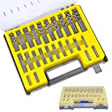 QLOUNI 150 Stück HSS Stahlbohrer Satz Spiralbohrer 0.4mm-3.2mm Spiralbohrer Kit Micro Metallbohrer Drillbohrer Mini Bohrer Set für Holz, Kunststoff, Aluminium mit Aufwahrungsbox