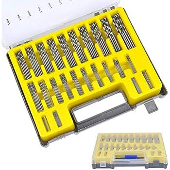 Enjoydeal 50PCS Mini Micro Round Shank Drill Bits Set Small Precision HSS Twist Drill