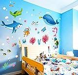 Adesivi Da Parete Per Acquari, Camera Per Bambini Rimovibile, Arredamento Per La Casa, Camera Da Letto Per Bambini In Vinile