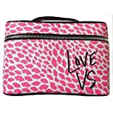 Victoria's Secret Pink and White Lips Makeup Train Case by Vicky