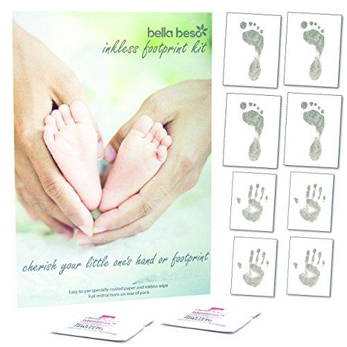 ndabdruck- und Fußabdruck-Set mit 8Seiten Druckpapier & 2-tüchern ()