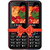 IKALL K14 Dual Sim 4.57 Cm (1.8 Inch) Mobile Phone(Red:Blue)