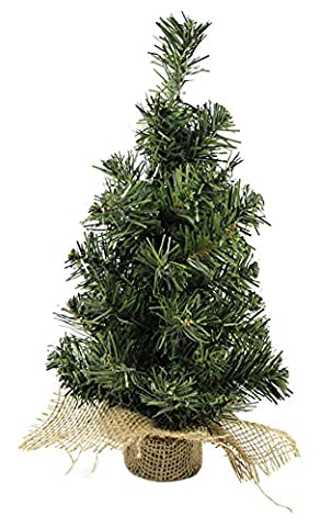 EOZY Sapin de Noël Artificiel Petit Arbre de Noël Décoré 30cm Ornement Décoration de Noël (Vert)