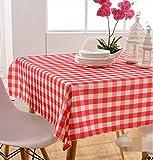La Mode Style Simple Nappe Rectangulaire Vichy Rouge Blanc Plaid Couverture de Table...