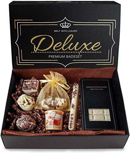 Natürlichen Schokolade Alle (BRUBAKER 8-teiliges Bio Badepralinen Geschenkset