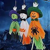 3 Pz Vividi Halloween Decorazioni Appeso Fantasma Infestata Casa Fuga Orrore Puntelli per Esterni Interni da Pingenaneer