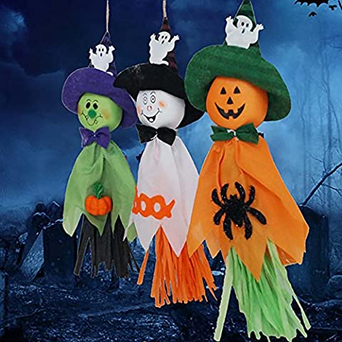 Pingenaneer 3 Stück Halloween Aufhänger Deko Gespenst Kürbisse Hängedekoration Partydeko (Halloween Aufblasbare Kostüme)