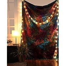 Tapiz de estrella, tapices psicodélicos abstractos, tie dye wall hanging tapestry, arte decorativo casero hippie boho de Rajrang