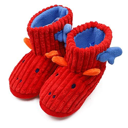 Kids Girls Boys Warm Booties Slippers Cute Animal Plush Winter Boot Socks Shoes Indoor/Outdoor