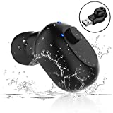 Singdo Waterproof Wireless Bluetooth Earbud, Mini Wireless Earpiece with Magnetic USB Charger Small