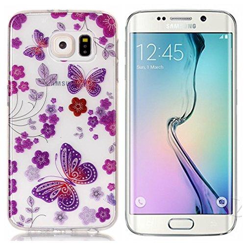 KANTAS 3X Coque Silicone Transparente pour Samsung Galaxy S6 Edge TPU Doux Back Case Caoutchouc Gel Etui Clair Ultra Mince Coquille Slim Fit Flexible Housse Silicone Souple Rubber Soft Clear TPU Bumpe 7