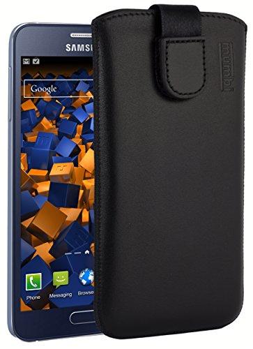 mumbi Tasche für Samsung Galaxy A3 (2015) Etui - Lasche mit Rückzugfunktion Ausziehhilfe