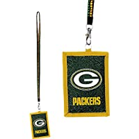 NFL Green Bay Packers Beaded Lanyard with Nylon Wallet