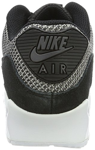 Nike Herren Air Max 90 Essential Low-Top Schwarz (Black/dark Grey Dark Grey-chrome-white)