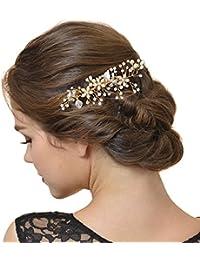 AWEI Peigne Cheveux Mariage, Mariage Accessoires de Cheveux avec Perles et Faux Diamant