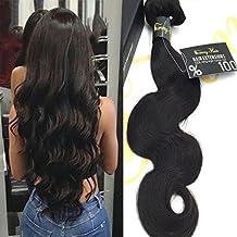 Sunny Tissage Bresilien en lot pas cher Vierges Ondule(Body Wave) Cheveux Naturels 14 pouces/35cm- Extensions de Cheveux Humains 100g/Bundle
