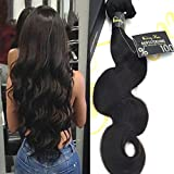 "Sunny Top Quality 1 Bundle 20"" Body Wave Hair Weave Extensions 100% Brazilian Virgin Human Hair Weft Natural Color 100g"