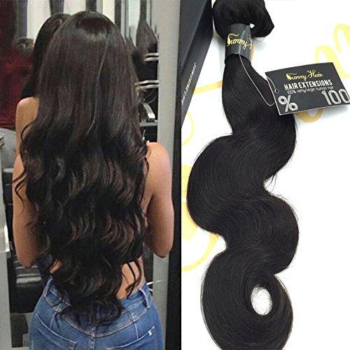 Sunny 12-26pouces tessitura indiani vergine (ondulata) body wave capelli naturali, lunghezza: 100 grammi,-estensioni per capelli umani