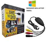 TopYart TopYart VHS to Digital Converter -[Upgrade] USB 2.0 Video Audio Capture Recorder