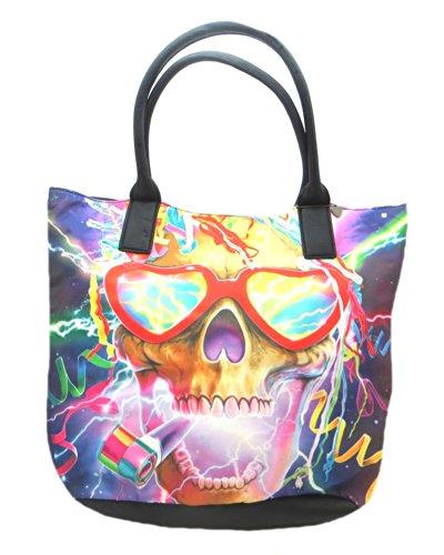Iron Fist da donna Party Skull Borsa Tote Bag