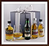 Exklusives Geschenk mit Glenfiddich, Highland Park, Auchentoshan, Edradour (je 5cl) & Spey Dram Glas, kostenloser Versand