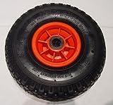 Rad 260 mm 4PR Luftbereifung für Sackkarren und Bollerwagen, Blockprofil, Rollenlager, Achsloch 25 mm (25 mm)