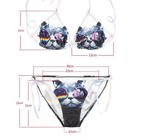 Lucky staryuan ® Prime Deals Frauen-Druck-Verband-Halter-Bikini-Set Bade Spa Bademode Anzug Stil 13