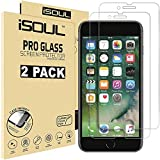 "ISOUL [2 Pack] Screen Protector for Apple iPhone 8 iPhone 7 Tempered Glass Film 9h HD, 0.3mm Premium Accessories Shatterproof Protection 4.7"" Inch [Easy Installation] [3D Touch] [Ultra Strong]"